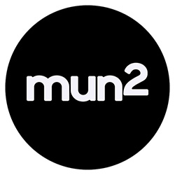 "NBCUNIVERSAL LOGOS -- Pictured: ""mun2"" Black Logo  -- (Photo by: mun2)"