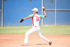 Los Angeles, CA - July 29, 2015 - Easton Stadium: Jose Escalera of Mexico participating in softball during the 2015 Special Olympics World Summer Games (Photo by Scott Clarke / ESPN Images)