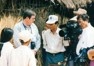 Vietnam: March, 1998 - Bob Ley in Vietnam for Outside The Lines show Made in Vietnam: The American Sneajer Controversy. .