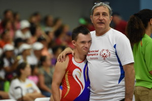 Los Angeles, CA - July 31, 2015 - John Wooden Center: Athlete participating in artistic gymnastics during the 2015 Special Olympics World Summer Games (Photo by Scott Clarke / ESPN Images)