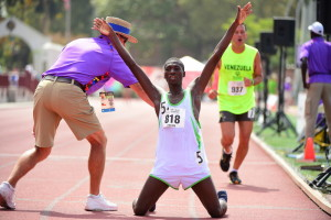 Los Angeles, CA - July 31, 2015 - Loker Stadium/Cromwell Field: Bonaventura Anga of Tanzania participating in track and field during the 2015 Special Olympics World Summer Games (Photo by Kohjiro Kinno /  ESPN Images)