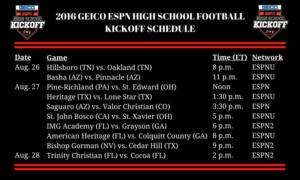 2016 GEICO ESPN HIGH SCHOOL FOOTBALL KICKOFF