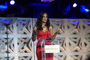 Los Angeles, CA - July 14, 2015 - Conga Room at L.A. Live: Laila Ali during The Sports Humanitarian Awards presented by ESPN and Playstation (Photo by Eric Lars Bakke / ESPN Images)