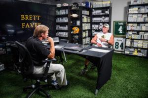 Tampa, FL - June 28, 2016 - Jon Gruden and Brett Favre during a 2016 Gruden Camp segment. (Photo by Heather Harvey / ESPN Images)